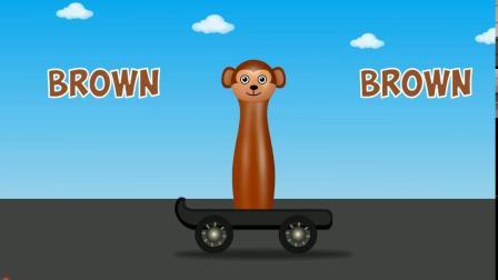 动物划划车游戏  认识颜色 学习英语 婴幼儿早教益智动画玩具