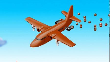 飞机播种游戏 认识颜色 学习英语 婴幼儿早教益智动画玩具