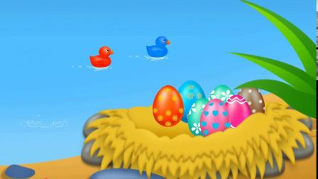 孵化小鸭游戏 认识颜色 学习英语 婴幼儿早教益智动画玩具