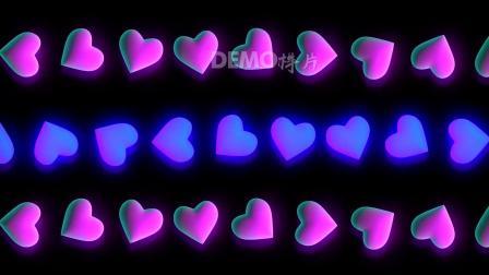 粒子视频 歌曲配乐视频 高清视频 f189 4K高清画质超唯美粉色爱心粒子运动歌舞表演婚礼婚庆表白情人节节目舞台VJ视频背景素材 ae片头