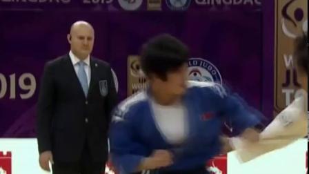 2019년 청도세계유술강자경기대회에서 우승한 김진아선수의 경기중에서