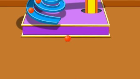 球球螺旋滑梯变动物游戏 认识颜色 学习英语 婴幼儿早教益智动画玩具