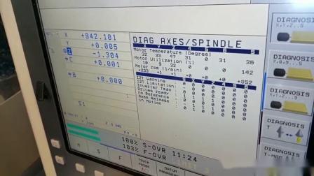 台湾新卫TVMC动柱式五轴加工中心刚性切削视频