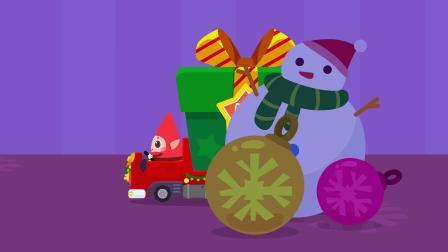 圣诞精灵送礼物