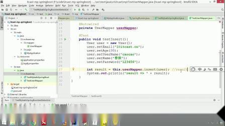 java免费教程mybatis-plus第一天-12.通用CRUD详解之插入操作