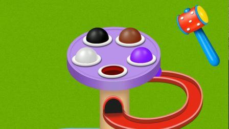彩球变卡通人物游戏 认识颜色 学习英语 婴幼儿早教益智动画玩具