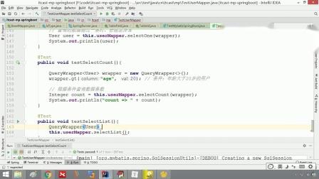 java免费教程mybatis-plus第一天24.查询操作(selectList)