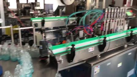洗手液灌装生产线 灌装旋盖机 自动理瓶机 不干胶贴标机mp4