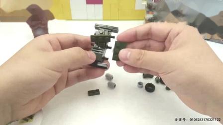我在移动火炮积木工程车玩具拼装截了一段小视频