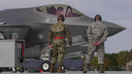 美空军国民警卫队佛蒙特州南伯灵顿基地F-35战机部署以来10-12月日常训练集锦