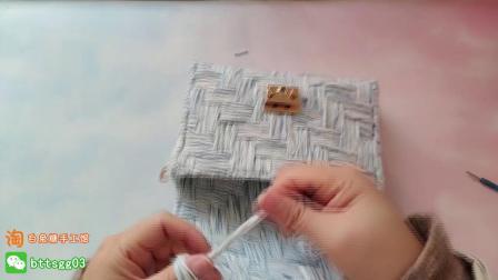 193集【白兔糖手工馆】T型锁的安装视频教程怎样编织织法图解