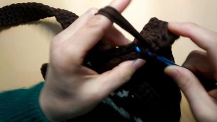 麻团铺子diy手工布条线耐克包视频教程2-侧面缝合部分