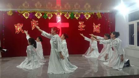 基督教广场舞佟家复兴教会《 主耶稣你为了谁》