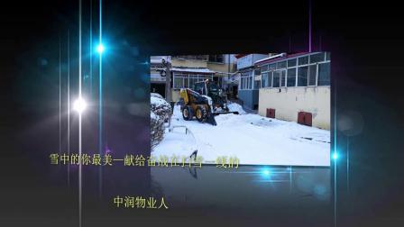 雪中的你最美—献给奋战在扫雪一线的中润物业人