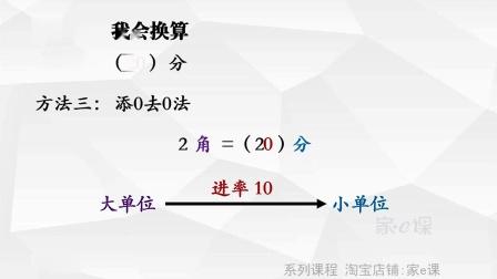 小学一年级数学:人民币的换算 郭锦绣老师 家e课