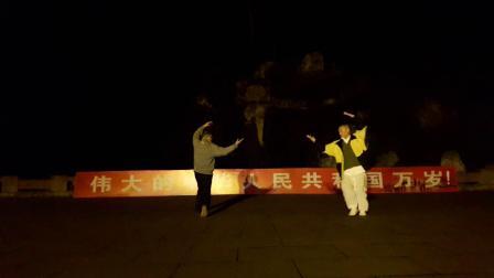 20191226_064946魏友福老师教学传统武术 师徒晨练八卦掌
