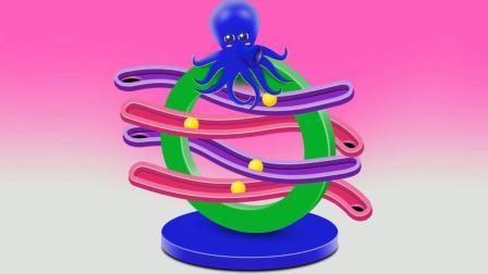 八爪鱼游戏 认识颜色 学习英语 婴幼儿早教益智动画玩具