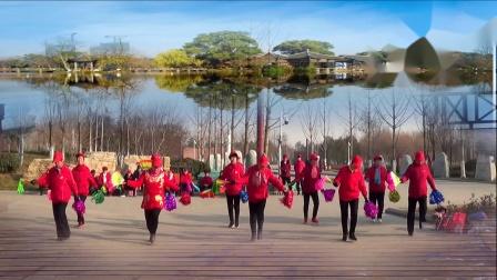 辛中公园映山红健身队迎新春文艺表演集锦 摄制 三石
