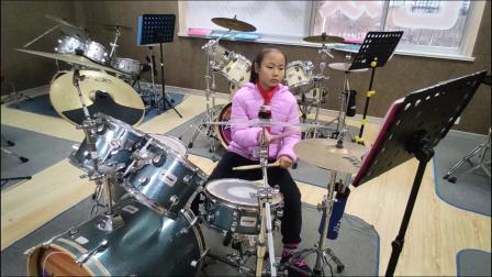 蓬莱架子鼓  《幽灵漫步》  荆悦婷  于老师权威架子鼓教学  课堂激情演奏!