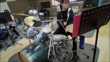 蓬莱架子鼓  《好想大声说爱你》  王晨曦  于老师权威架子鼓教学  课堂激情演奏!