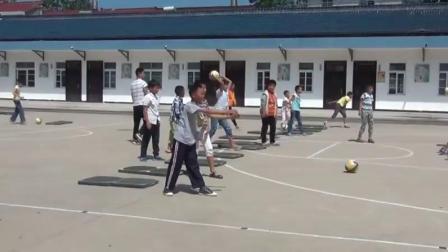 配课件教案五六年级体育《3.双手从头后向前掷实心球考核》安徽省市一等奖2