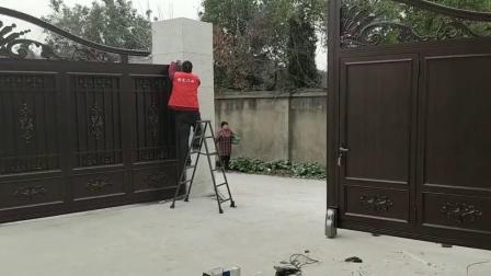 农村别墅大门安装进行时「利元门业」