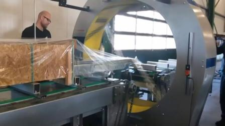 全自动水平缠绕裹膜机FV350 160 长型货物缠绕范例