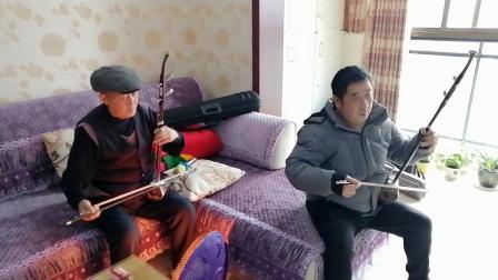 2019岁末老包谷应邀到邓邦远老师家玩2人即兴随拉的二胡曲《绣红旗》、《送战友》(我的剪辑视频_201912301618)