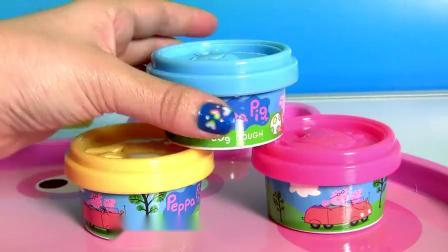 粉红猪小妹玩具 猪爸爸制作冰淇淋 猪爸爸制作披萨饼 儿童玩具