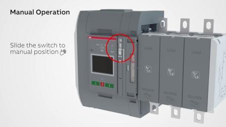 Manual and automatic operationTruONE ATS
