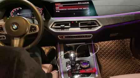 19款宝马X5 3.0T Repose中尾段阀门款智能排气原车sport运动按键控制装车效果