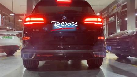 19款宝马X5 3.0T Repose中尾段阀门款智能排气原地声音效果视频
