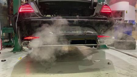 奔驰S400coupe两门版 Repose中尾段阀门款排气装车效果