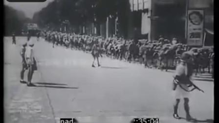 珍贵老视频 1945年日本投降后美国海军陆战队登陆天津