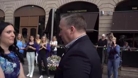 瑞典一男子竟然被快闪舞求婚,原来真是他女朋友