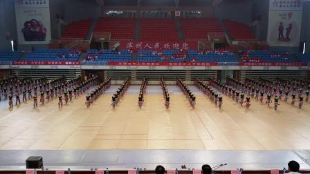2015滨州市三届老年人运动会展演《鼓动天地》教练杭薇