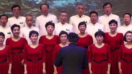 玉海摄:混声合唱《追风马》指挥:高健.2020年山东省老干部艺术团节目展演