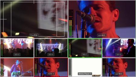 虎虎音乐台制作,导播台分割屏,音乐现场导播素材9