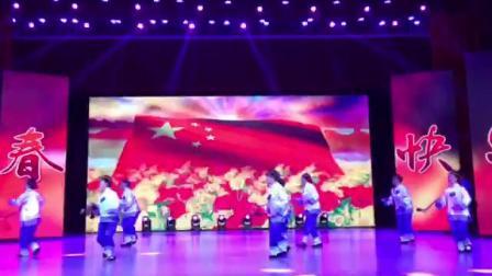 舞蹈《夕阳乐》富裕县2020迎新春茶话会。演出富裕县老干部艺术团
