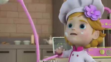 超级飞侠:乐迪帮小女孩装饰蛋糕,却帮了倒忙,摔倒在蛋糕上了