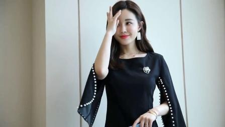 气质洋气斗篷裙连衣裙女2020春装新款韩版披肩式中长款修身包臀裙