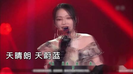 张韶涵+肖战--呐喊--现场--国语--男女唱--中国梦之声--高清版本