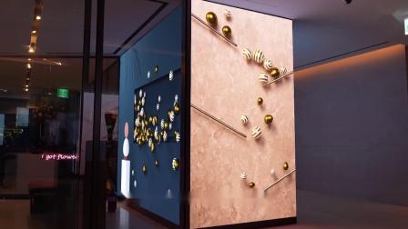 动画与投影,酿成酒店中的数字情调
