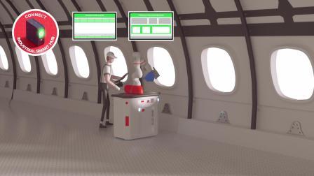 未来飞机制造装配车间