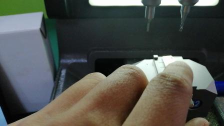刀锋数控机盲读切割立铣内沟钥匙操作演示
