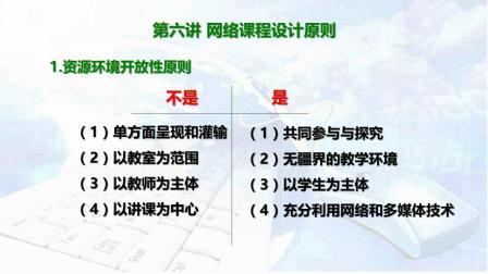 第六讲 网络课程设计原则