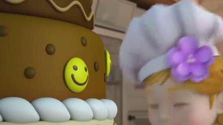 超级飞侠7季:乐迪帮小女孩装饰蛋糕,却帮了倒忙,摔倒在蛋糕上