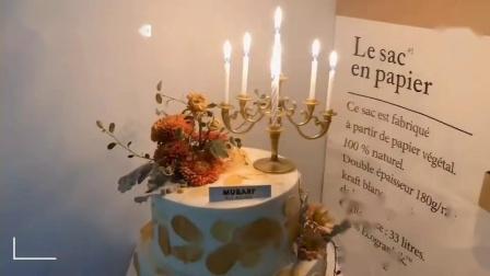 复古烛台蛋糕美呆了!我居然对慕巴夫这款鲜花蛋糕心动了!
