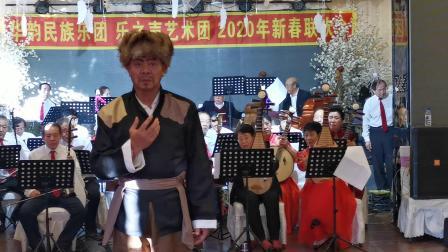 华韵民族乐团、乐之声艺术团2020年新春联欢会。京剧(智取威虎山)选段自己的队伍来到面前。