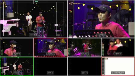 虎虎音乐台制作,张楚九霄有待咖啡馆演出一部分,艾拉1,导播台分割屏